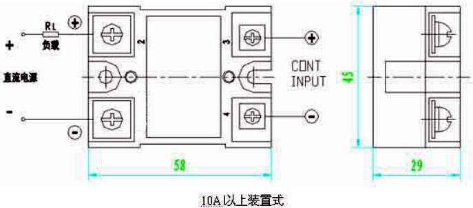 产品介绍   输入与输出回路之间光隔离。   ♦控制信号与TTL逻辑接口。   ♦晶体管输出,通态压降小,开关速度快。   ♦发光二极管指示工作状态。   ♦环氧树脂封装一体,抗震防腐,工作可靠。   ♦产品主要用于工业自动化中,弱电与强电隔离控制以及各种大功率的直流电气设备。如直流电动机、电磁阀、 电磁震动器、发动电机等。   (一)概述   1、输入电路:输入控制电流一般不大于15mA, TTL逻辑兼容。10A以下规格一般采用光电隔离,1