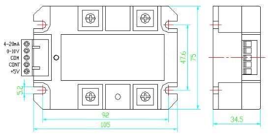 调压器内部①②端为可控硅电路,分为一只双向可控硅的普通型,两只单相